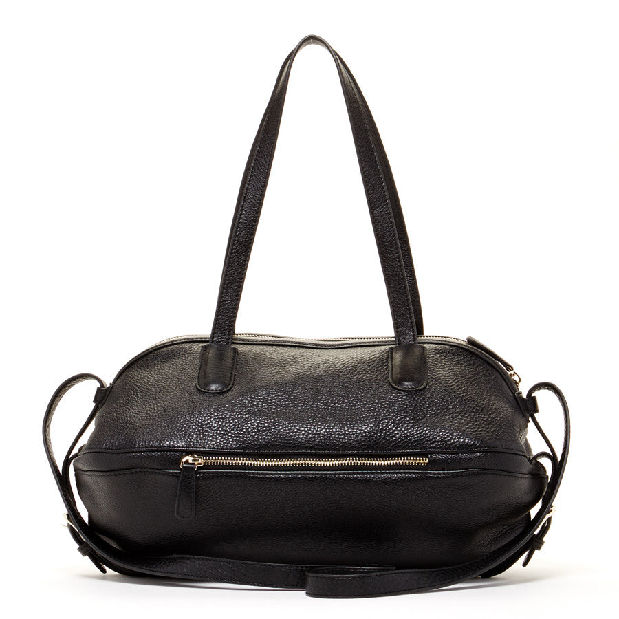 Black Luxury Leather Satchel