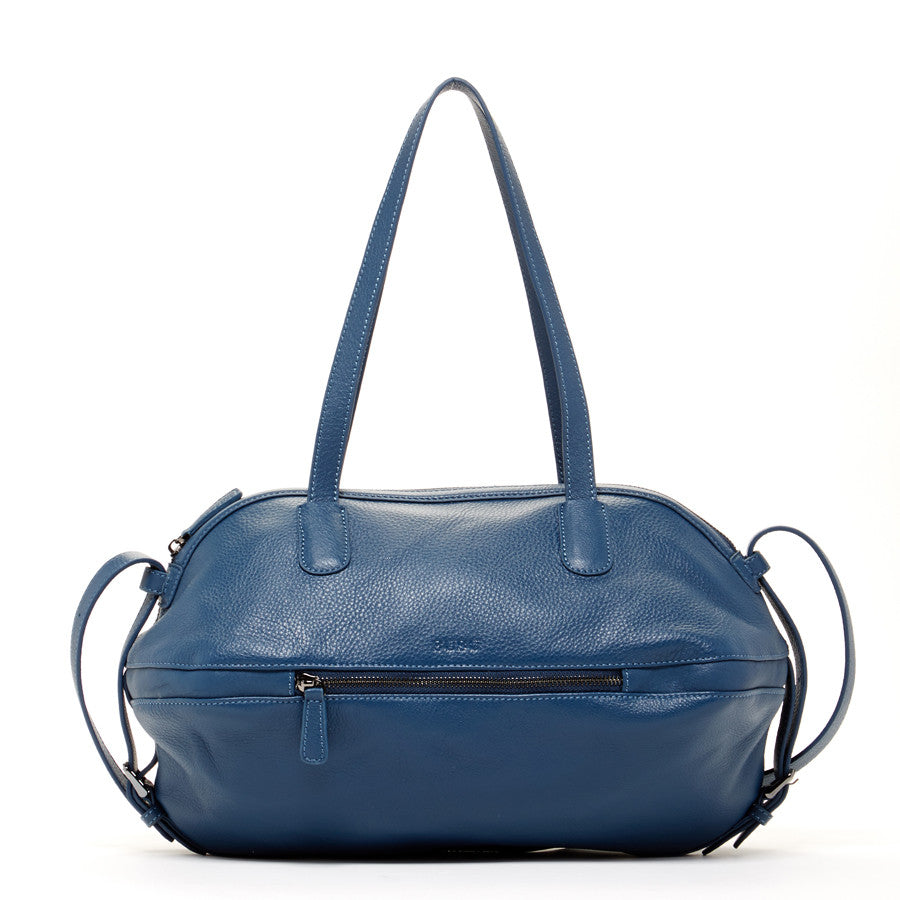 Blue Luxury Leather Satchel
