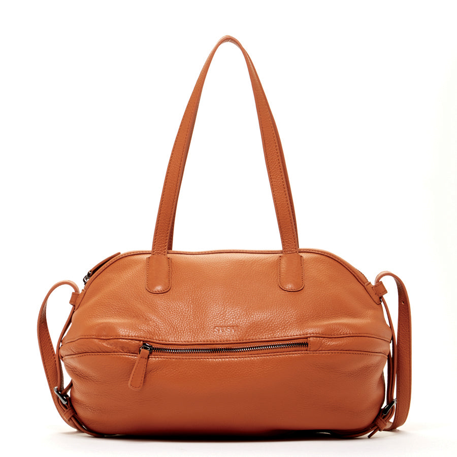 brown leather stachel