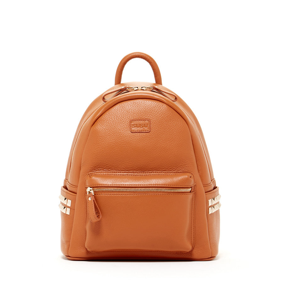 Convertible Brown Leather Backpack