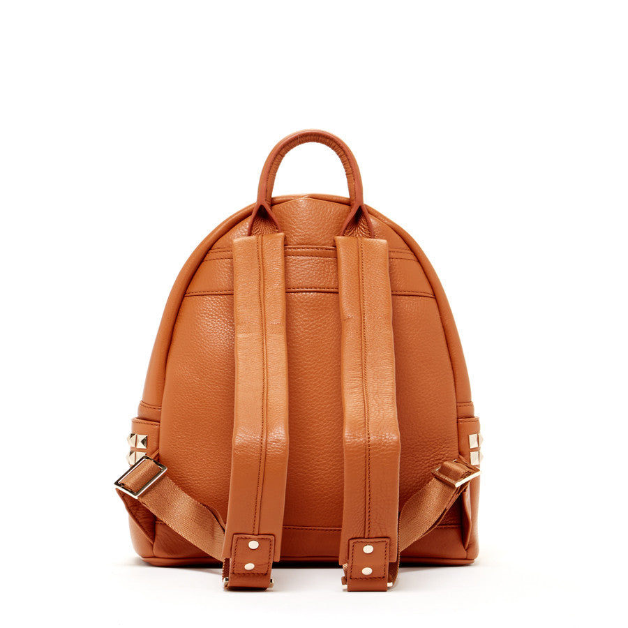 Brown Leather Fashion Backpack | SUSU Handbags