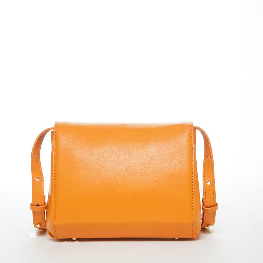 Orange Leather Saddle Bag | SUSU Hanbdags
