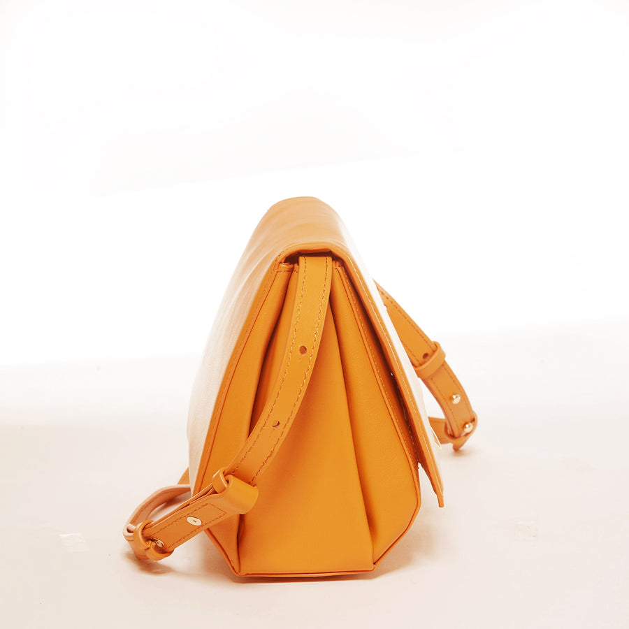 dark orange leather saddle bag | SUSU Handbags