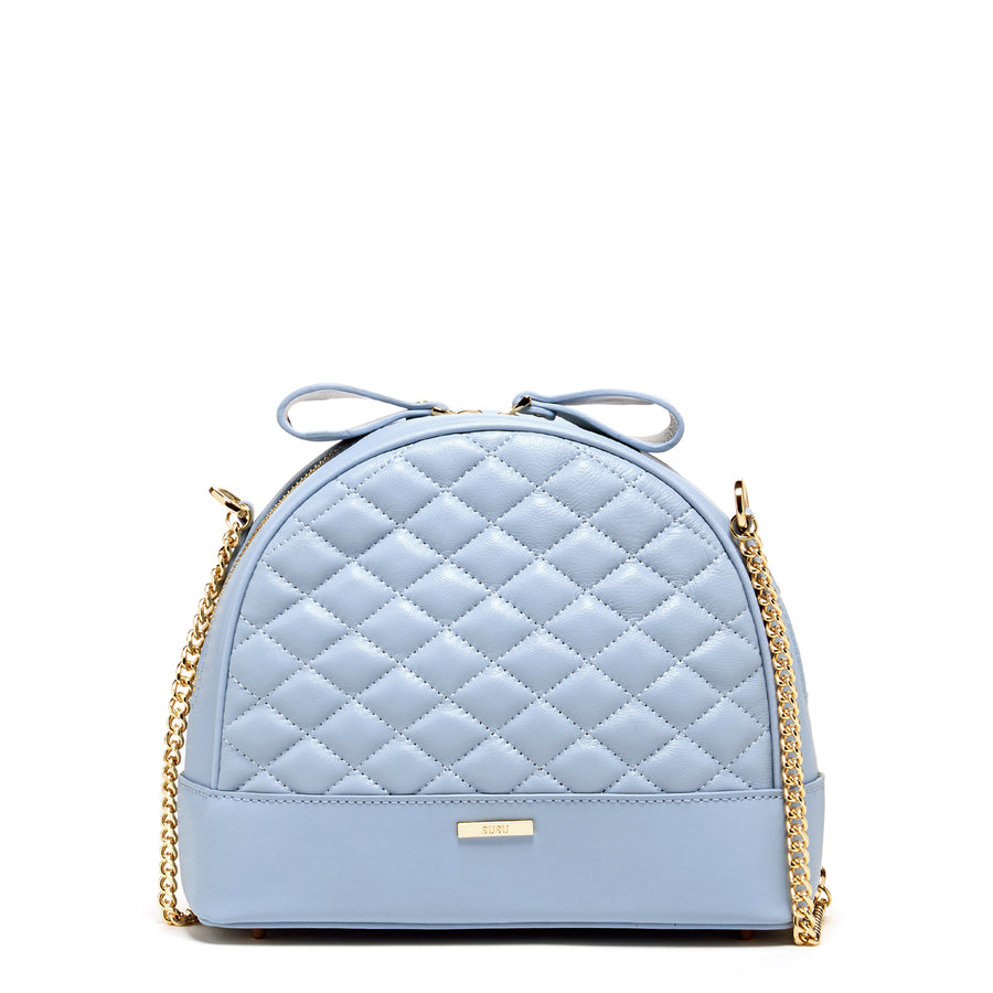 Baby Blue Quilted Crossbody