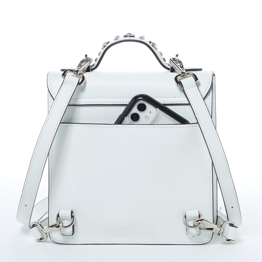 White Leather Bag | SUSU Handbags