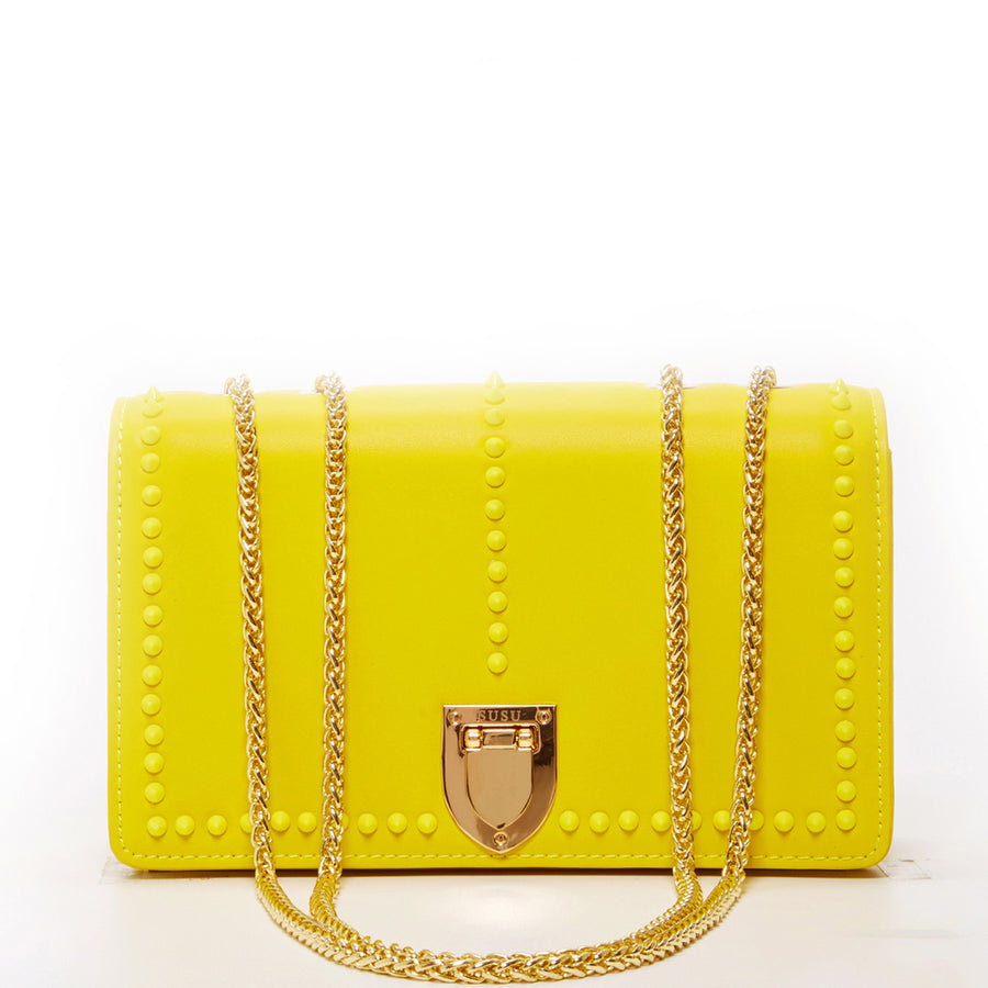 Yellow leather purse | SUSU Handbags