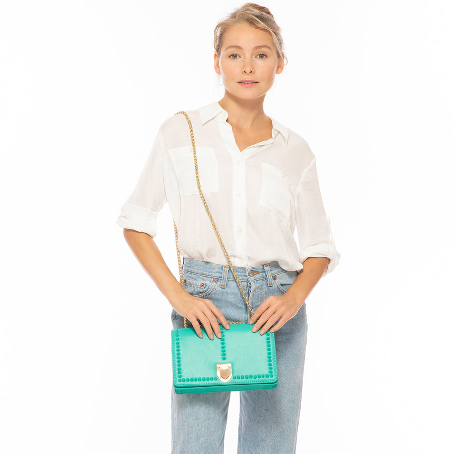 Arcadia green leather purse | SUSU Handbags