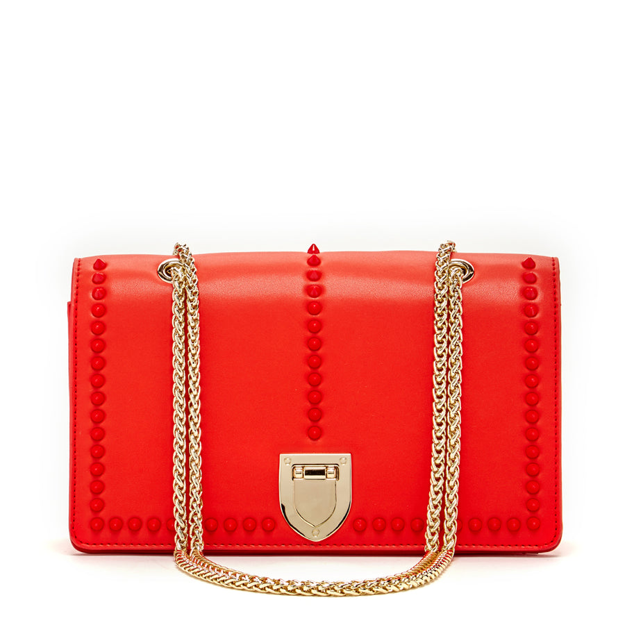 Leather red purse | SUSU Handbags