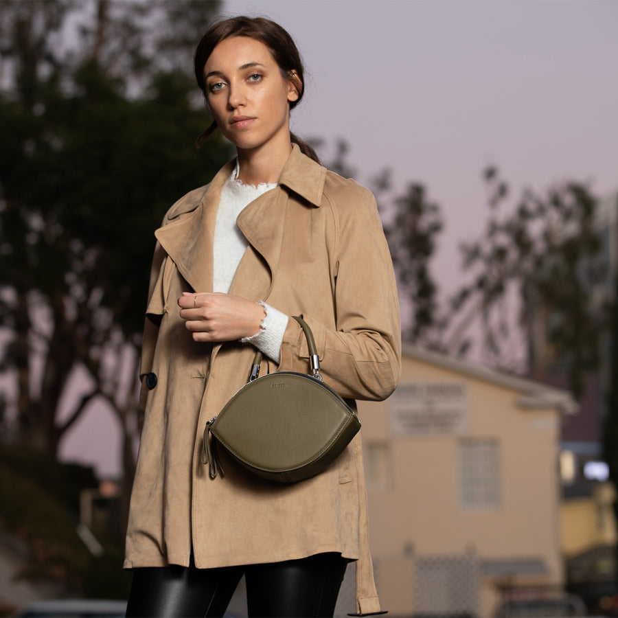 Olive green circle bag | SUSU Handbags