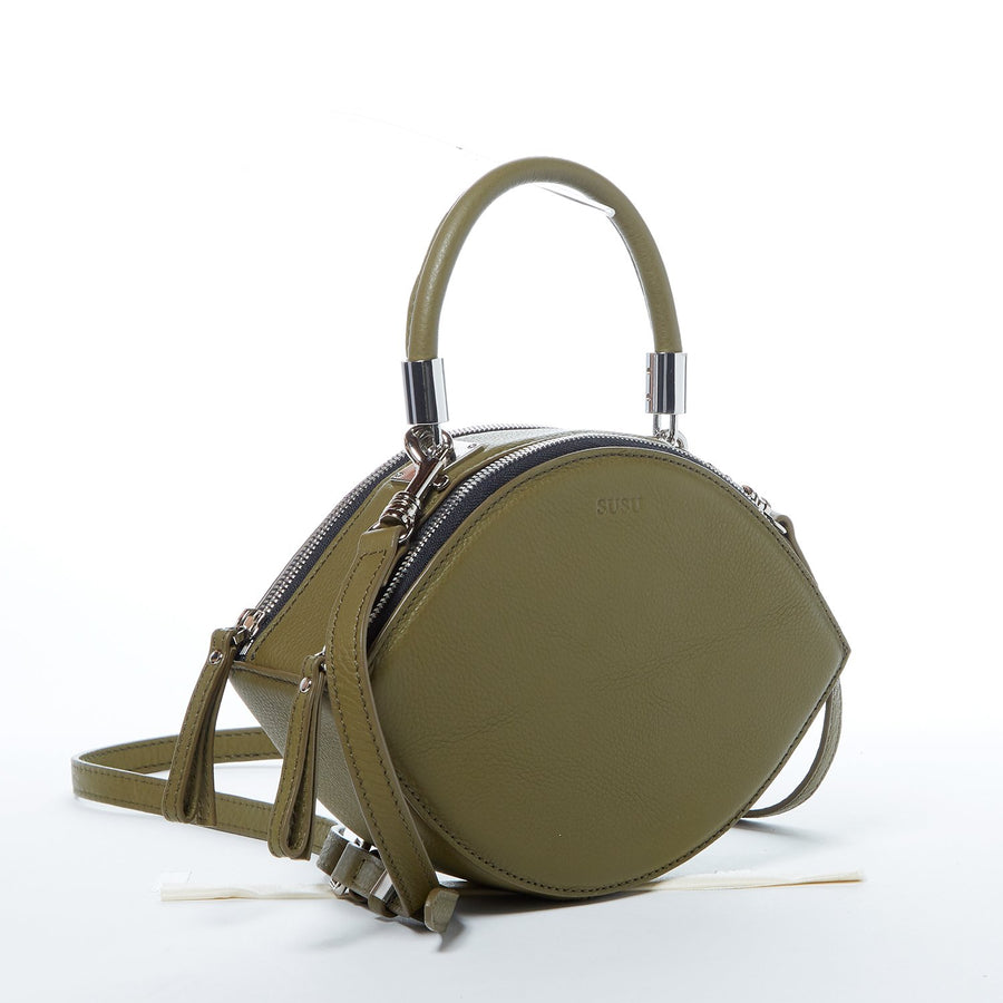 Olive Green Luxury Leather Crossbody