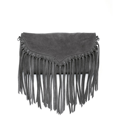 Lillian - Suede Leather Fringe Crossbody Bag