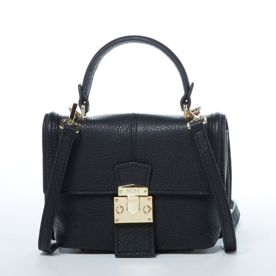 Black crossbody backpack purse | SUSU Handbags