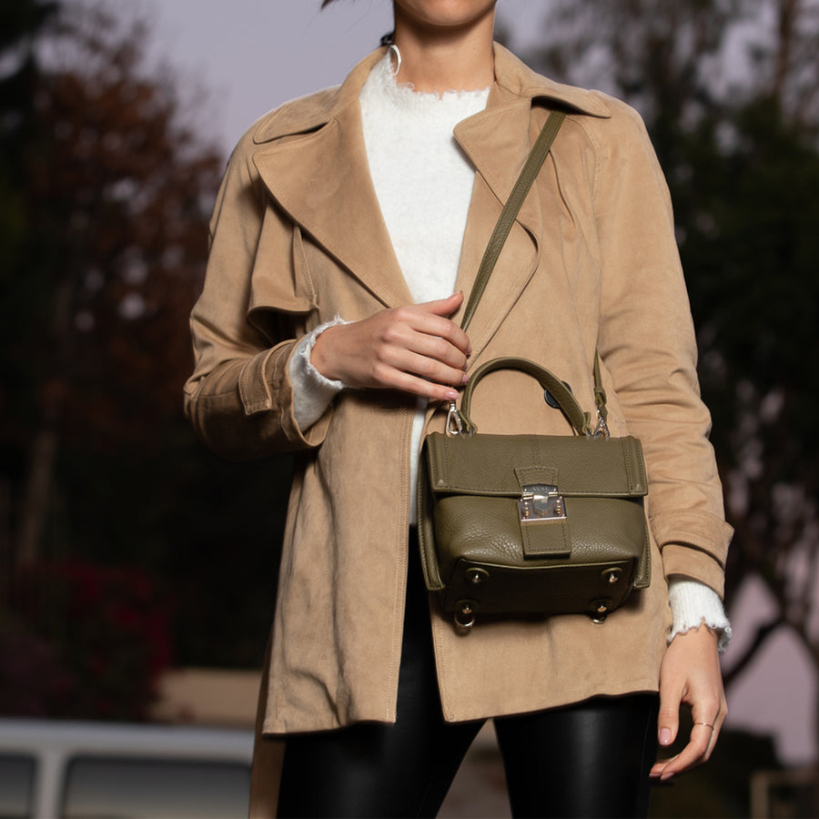 Olive Green Crossbody Backpack Purse | SUSU Handbags