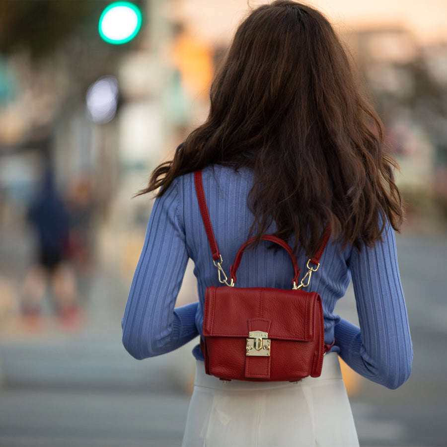 Red Mini Fashion Backpack