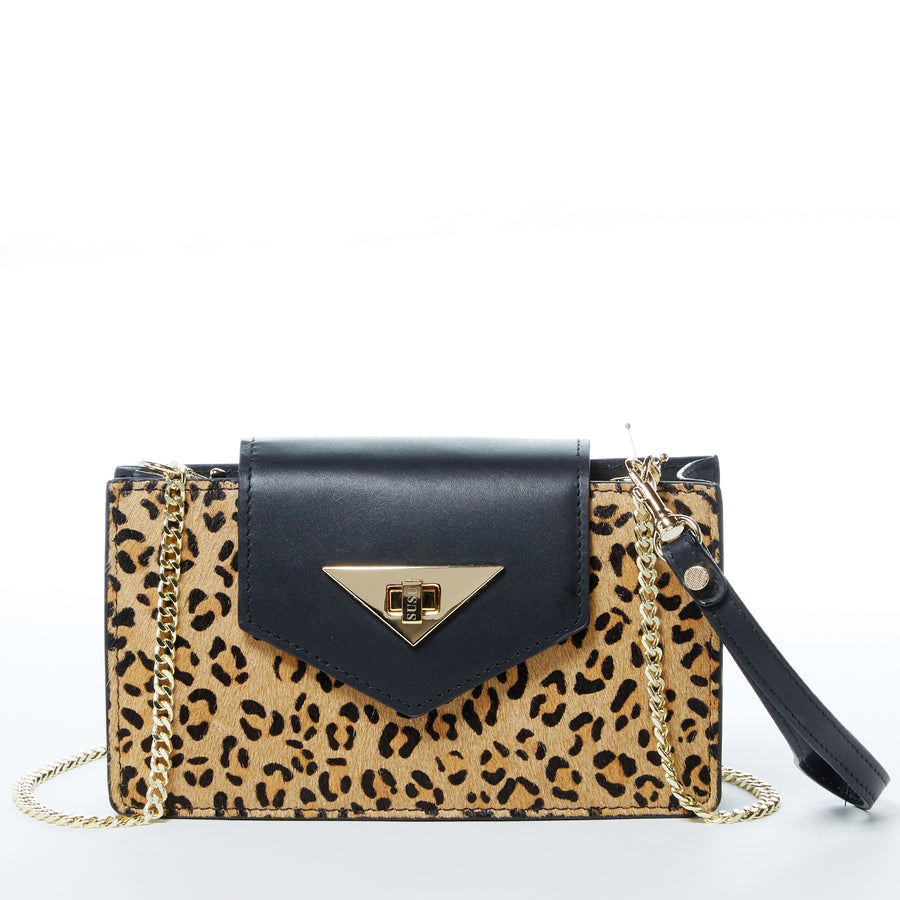 Leopard Print Leather Handbag | SUSU Handbags