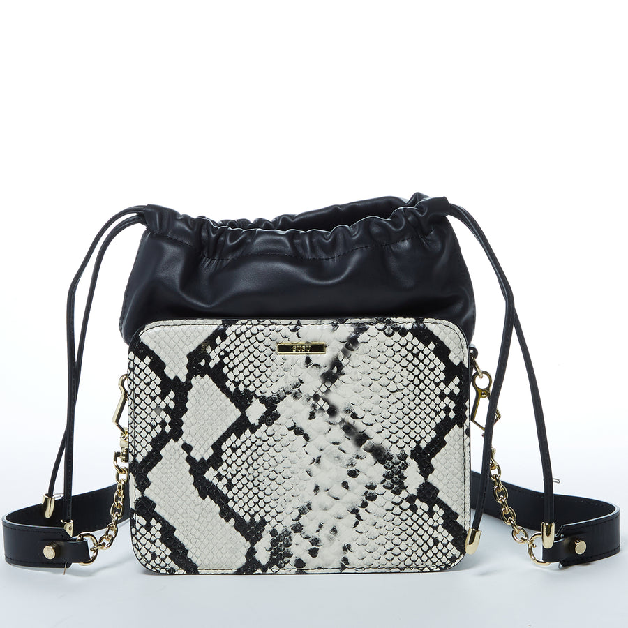 Snakeskin Bucket Bag
