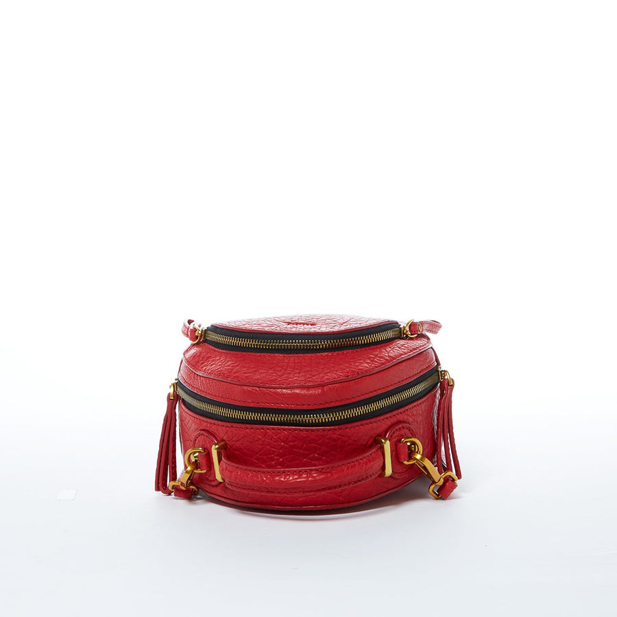 red leather mini backpack | SUSU Hanbdags