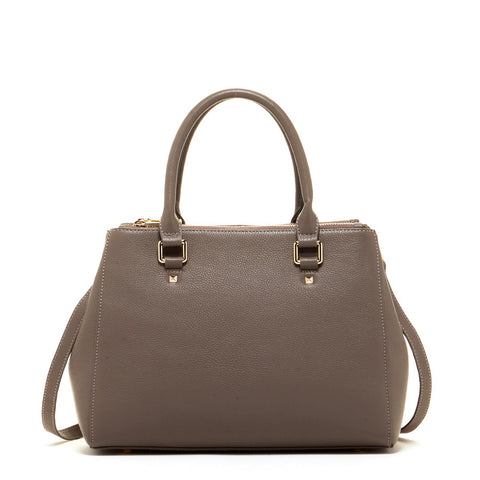 Chloe Leather Satchel Grey