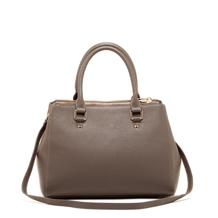 Gray Luxury Leather Tote