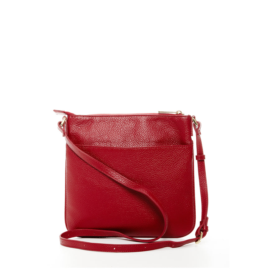 red crossbody purse