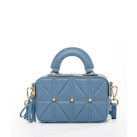 The Atlanta Leather Small Crossbody Provincial Blue