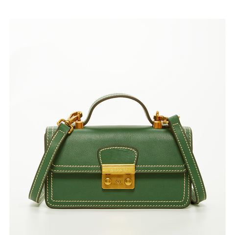 The Dallas Leather Phone Crossbody Bag Green