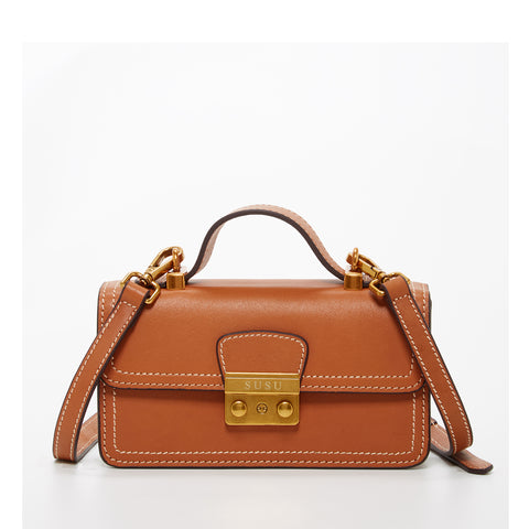 The Dallas Leather Phone Crossbody Bag Light Brown