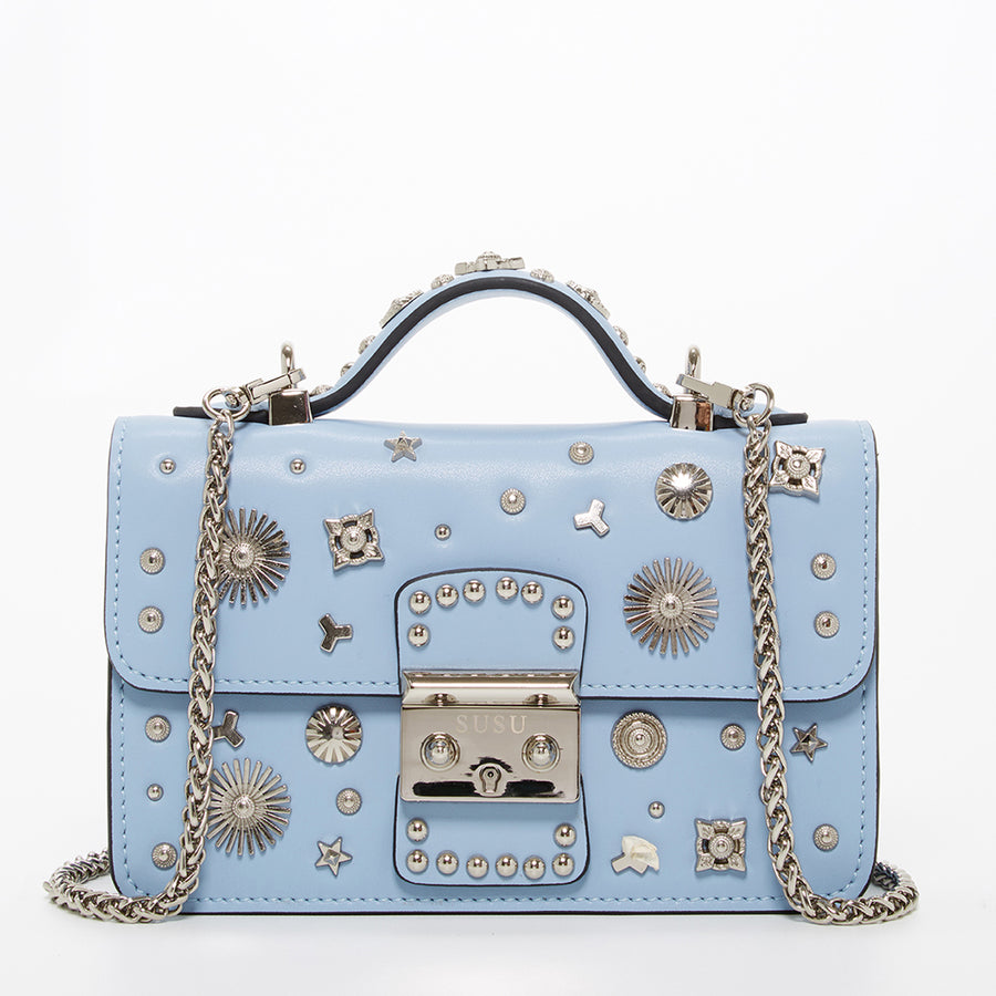 Baby Blue Studded Crossbody Bag | SUSU Handbags