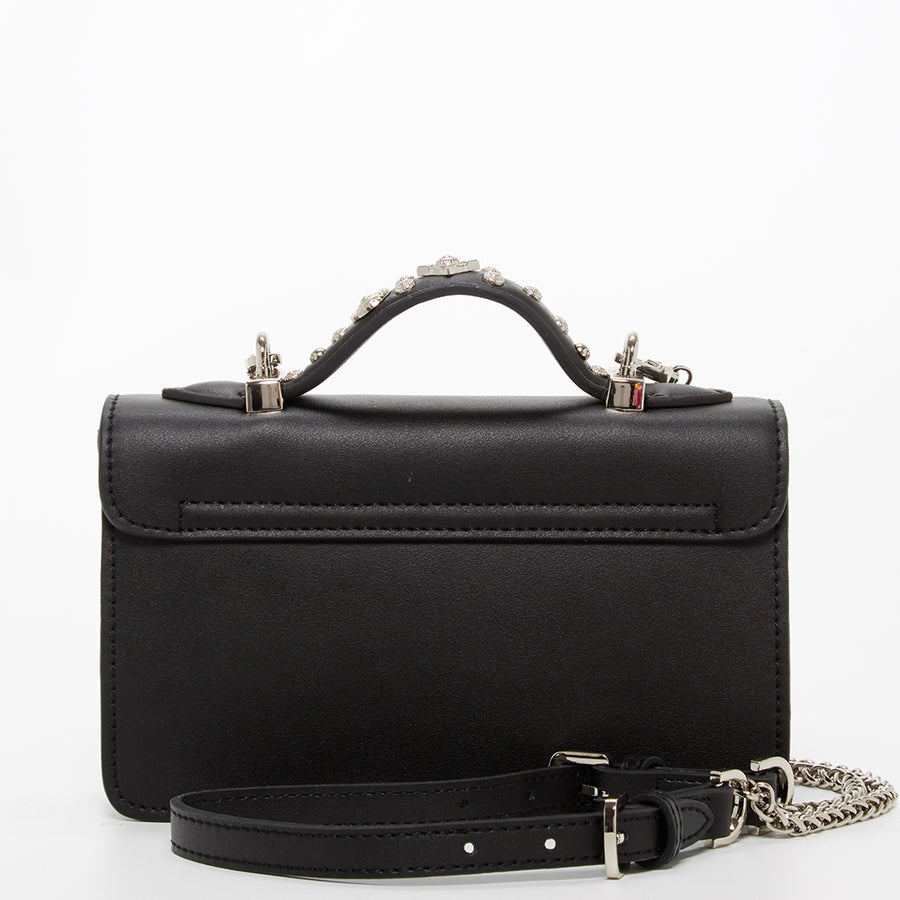 Studded Black Leather Bag | SUSU Handbags