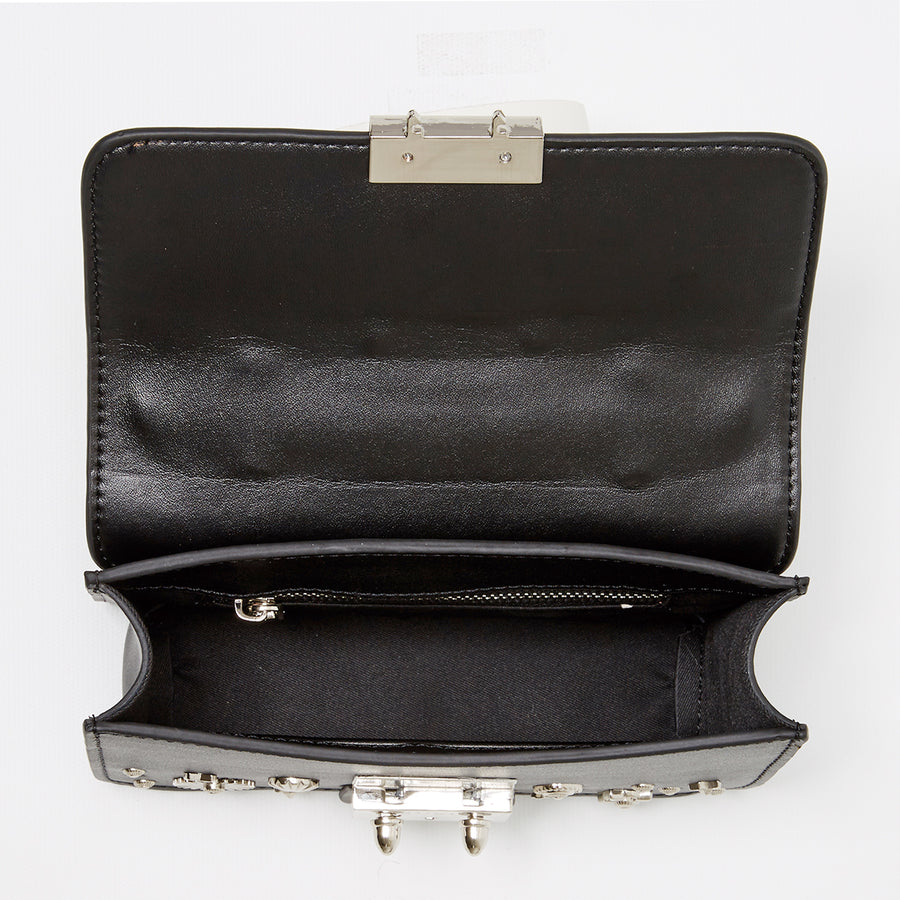 black small leather bag | SUSU Handbags