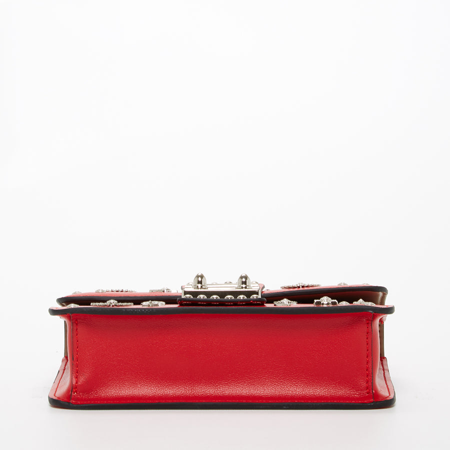 Red leather crossbody | SUSU Handbags