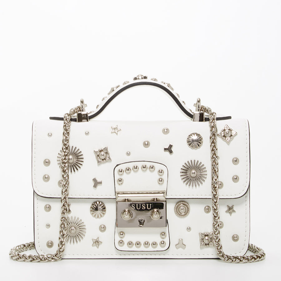 White leather crossbody | SUSU Handbags