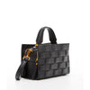 The Manhattan Quilted Leather Boxy Bag Black