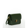 Nanah Small Leather Crossbody Camera Bag Vintage Style Dark Green