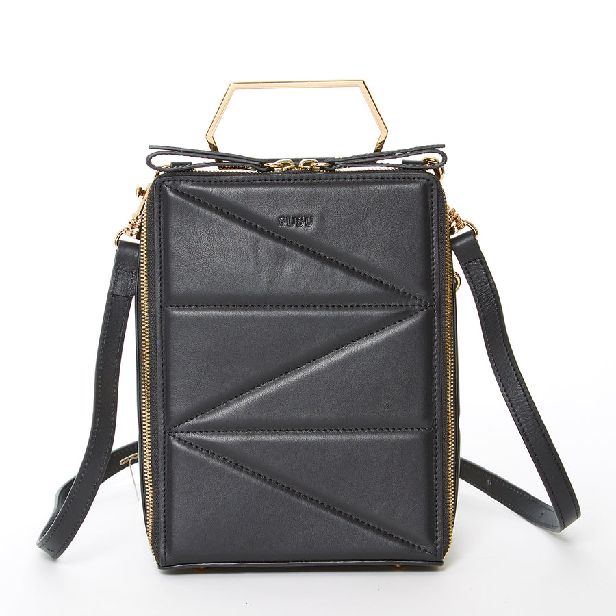 black leather backpack purse | SUSU Handbags