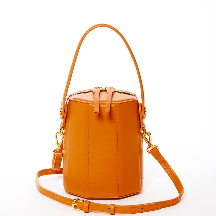 burnt orange leather crossbody