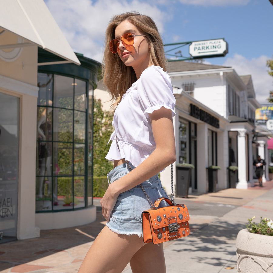 orange handbag | SUUS Handbags