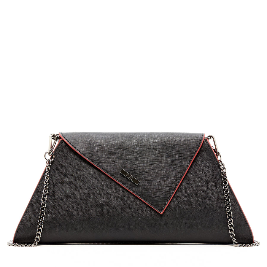 Black Leather Clutch Purse | SUSU Handbags