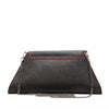 Angelica Leather Clutch With Shoulder Strap Black