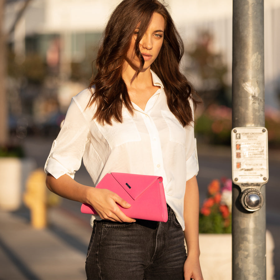 Hot pink evening bag | SUSU Handbags