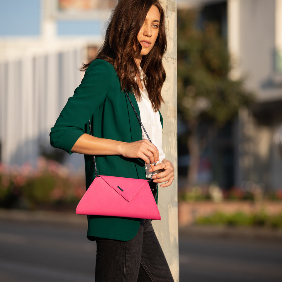Hot Pink Handbag hot pink clutch purse