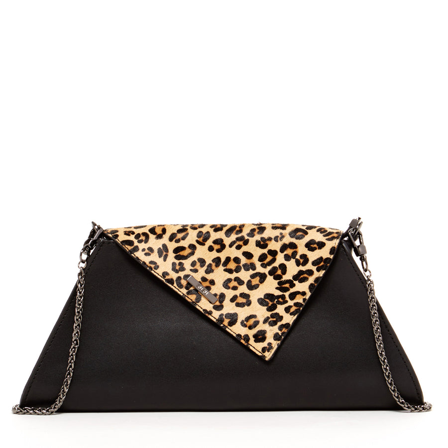 Leopard Print Leather Handbag leopard print clutch