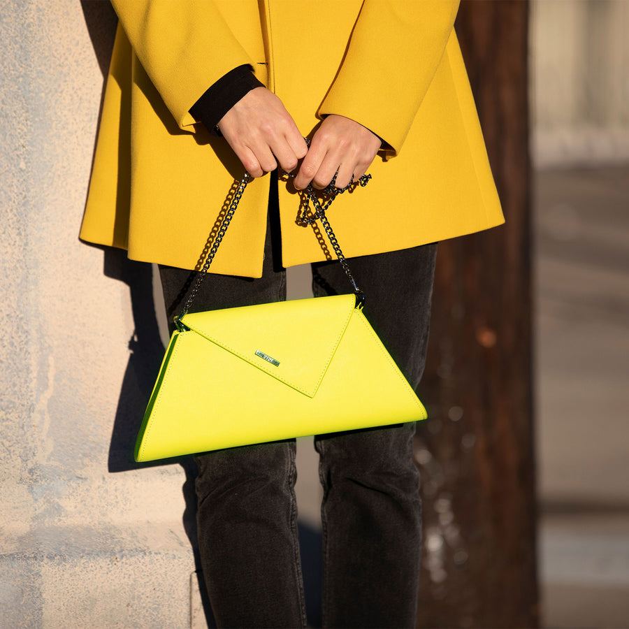 Bright Yellow clutch | SUSU Handbags