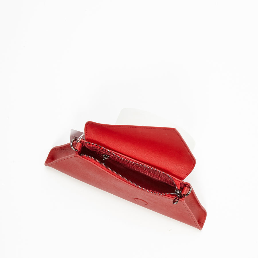 red leather clutch | SUSU Handbags
