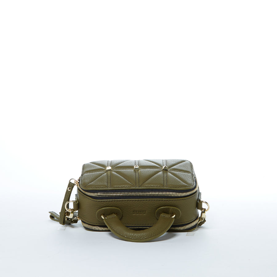 olive green leather purse | SUSU Handbags
