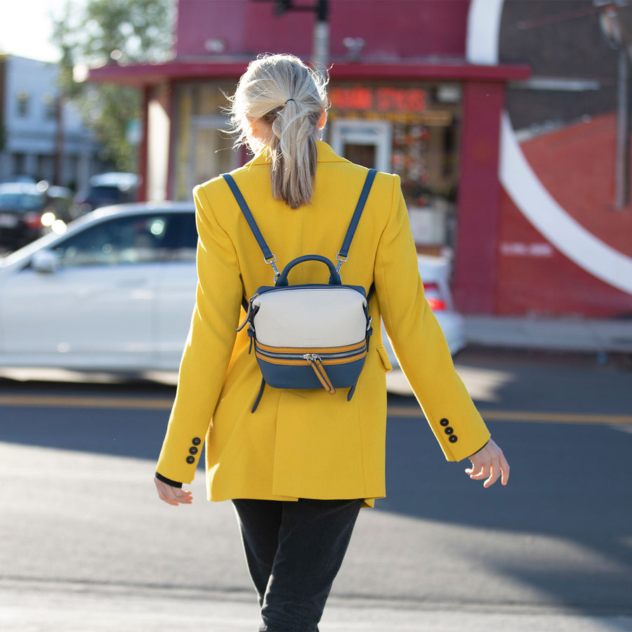 Color Block Fashion Backpack