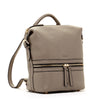 Ashley Convertible Leather Backpack Elephant Gray