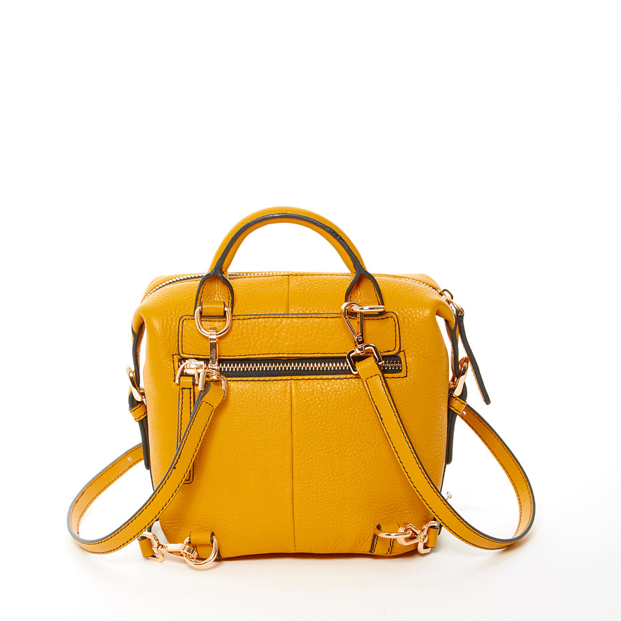 yellow leather backpack | SUSU Handbags