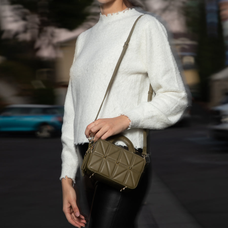 olive green crossbody purse | SUSU Handbags