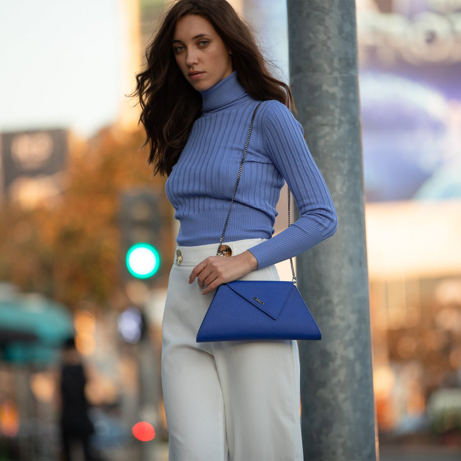 Cobalt blue clutch | SUSU Handbags